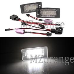 1 Pair LED Number License Plate Light For Skoda Fabia II 5J Combi facelift Superb 3T B6/3T5 Wagon Yeti 5L 03-15 Car Parts