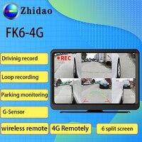 FK6 4G Smart Car Camera Dual lens gps tracker Rear View DVR 1080P Video Recorder Car Dvr Mirror