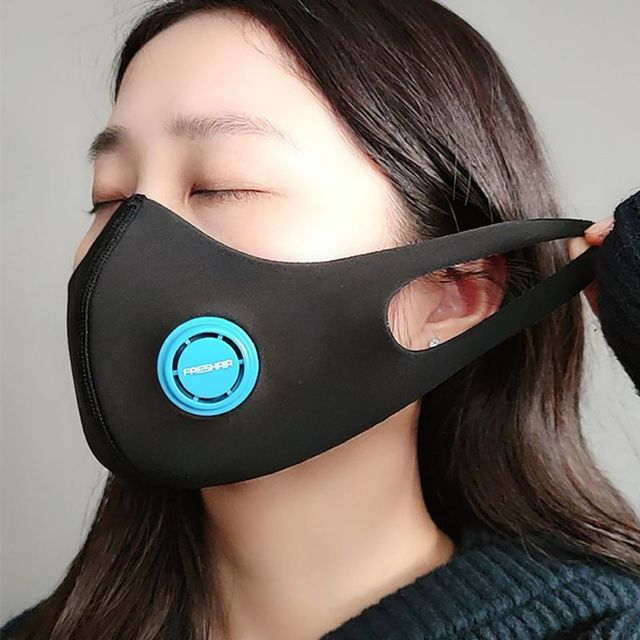 Cotton PM2.5 Black mouth Mask anti dust mask Activated carbon filter Windproof Mouth-muffle bacteria proof Flu Face masks 2