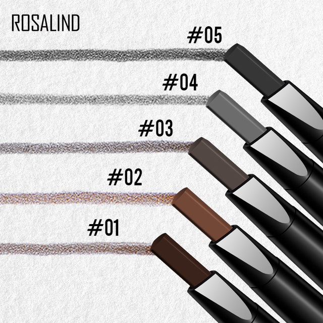 ROSALIND Eyebrow Shadows Pencil For Eyebrows Dye Marker Double End Eyebrow Pencil Tattoo Fine Sketch Brow Tint Cosmetic Stencil 1