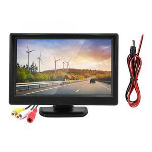 Image 3 - 5in voiture moniteur HD TFT LCD inversion Parking étanche moniteur pour voiture caméra de recul rétroviseur moniteur camara para auto