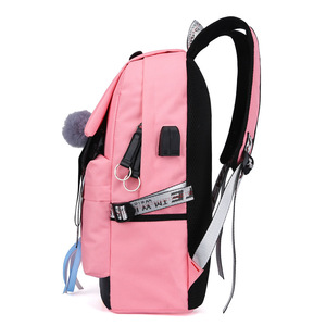 Image 4 - MYT_0220 Pink Oxford Backpack Women School Bags for Teenage Girls Preppy Style Large Capacity USB Back Pack Rucksack Youth