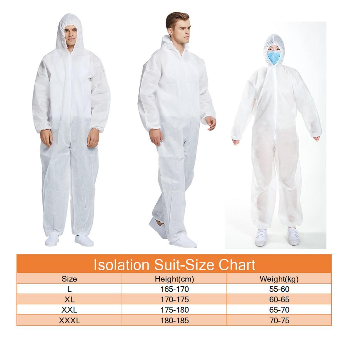 Wholesale Coverall Hazmat Suit Protection Protective Disposable Anti-Virus Clothing Disposable Factory Hospital Safety Clothing