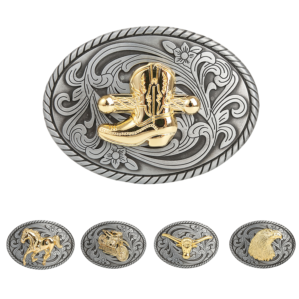 Cool Belt Buckles For Man Unisex Western Fashion Buckle Assorted Style Embossed Western Cowboys Belt Buckle Classic Belt Jewelry