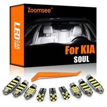 Zoomsee canbus para kia soul para soul ev (2009 a 2010 2013 2014 2018 2019) veículo led interior cúpula luz kit carro lâmpada
