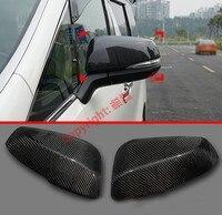 Estilo de fibra de carbono carro espelho lateral capa guarnição vista traseira tampa overlay moldagem decore para toyota alphard vellfire ah30 2016-2020