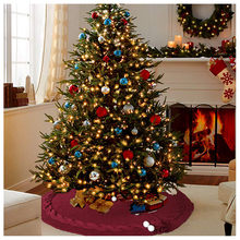 Christmas Decoration For Home Luxury Christmas Tree Skirt Faux Fur Round Ornament Home Xmas Floor Decor Ornament Party 120cm(China)