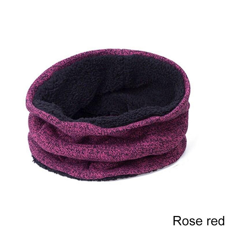 YEABIU, зимняя женская шапка, шарф, перчатки, набор, теплые, для девушек, Skullies Beanies, шапка, Infinity, для мужчин, шапка с сенсорным экраном, перчатки, набор для женщин - Цвет: rose red