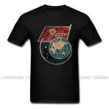 Sputnik 1 футболка мужская футболка с гордостью русская футболка Ретро дизайн мужские футболки CCCP топы с принтом C P флаг СССР черная уличная оде...