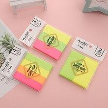 Karteczki samoprzylepne Neon 100 kartek Fluorescencyjne Memo Pad Samoprzylepne samoprzylepne karteczki samoprzylepne Memo Bloki papieru Karteczki samoprzylepne Etykiety Zakładki