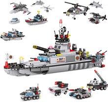 Coastal patrol ship large warship assembly model small particle building blocks boy girl DIY toy