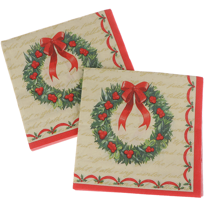 20PCS/set Disposable Napkins Garland Printed Graphic Tissues Serviettes Hand Paper For Christmas Baby Shower Birthday Decor