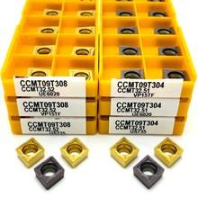 كربيد إدراج CCMT09T304 VP15TF UE6020 US735 المعادن تحول أداة أدوات مخرطة أداة الوجه قاطعة المطحنة CCMT 09T308 أداة التصنيع باستخدام الحاسب الآلي
