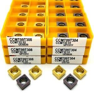 Image 1 - Inserto de carburo CCMT09T304 VP15TF UE6020 US735 herramienta de torneado de metal, herramienta de torno, fresa facial, herramienta CNC CCMT 09T308