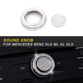 Car Center Console Knob Cover Trim Frame Sticker Interior Accessories For Mercedes Benz GLE W166 Coupe C292 2016-2018