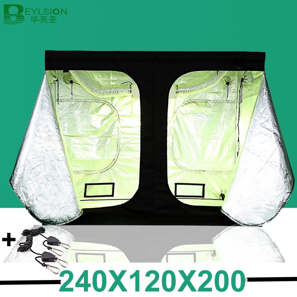 240*120*200cm Grow Tent Hydroponic Indoor Grow Tent Growing Light Accessories Completely LED Indoor Growing System Grow Indoor