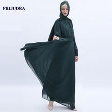 FRIJUDEA Women Muslim Prayer Abaya Long Dress Turkish Robe Caftan Kimono Islam Abayas