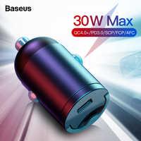 Baseus Quick Charge 4,0 3,0 USB C Auto Ladegerät Für Xiaomi mi9 Huawei P30 Pro QC4.0 QC3.0 QC 5A Schnelle PD Auto Lade Telefon Ladegerät