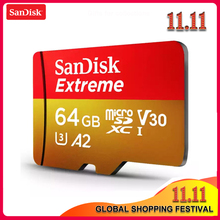 SanDisk Extreme Micro SD Geheugenkaart 128GB 64GB 32GB microSDHC/microSDXC UHS I U3 Leessnelheid Up tot 160 MB/s UHD 3D 4K Video Card