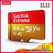 Sandisk extreme micro sd 메모리 카드 128 gb 64 gb 32 gb microsdhc/microsdxc UHS I u3 읽기 속도 최대 160 메가바이트/초 uhd 3d 4 k 비디오 카드