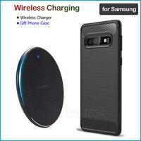 Qi Schnelle Wireless Charging für Samsung Galaxy S8 S9 S10 S20 Plus Ultra S10e S9 + S10 + 10W qi Drahtlose Ladegerät Geschenk Weiche TPU Fall