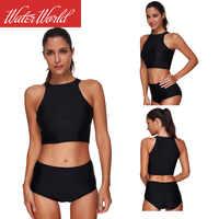 2019 nowy styl europa i ameryka-kąpielowe dwuczęściowe stroje kąpielowe kamizelka Bikini fartuch Bikini Amazon Hot Selling stroje kąpielowe