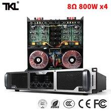 TKL PX480 800W * 4 8ohm 4ch power amplifier professional stage KTV pure post amplifiers HIFL