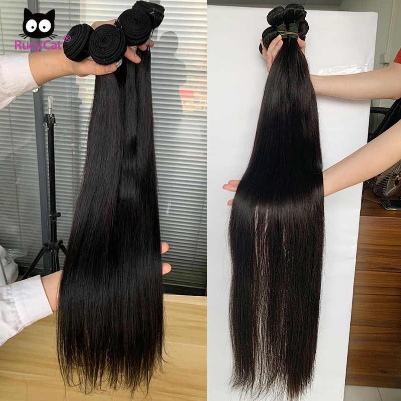 Rucycat 8-40 Inch Peruaanse Menselijk Haar Bundels Straight 100% Remy Haar Weave Bundels 1/3/4/Veel Haar Weave