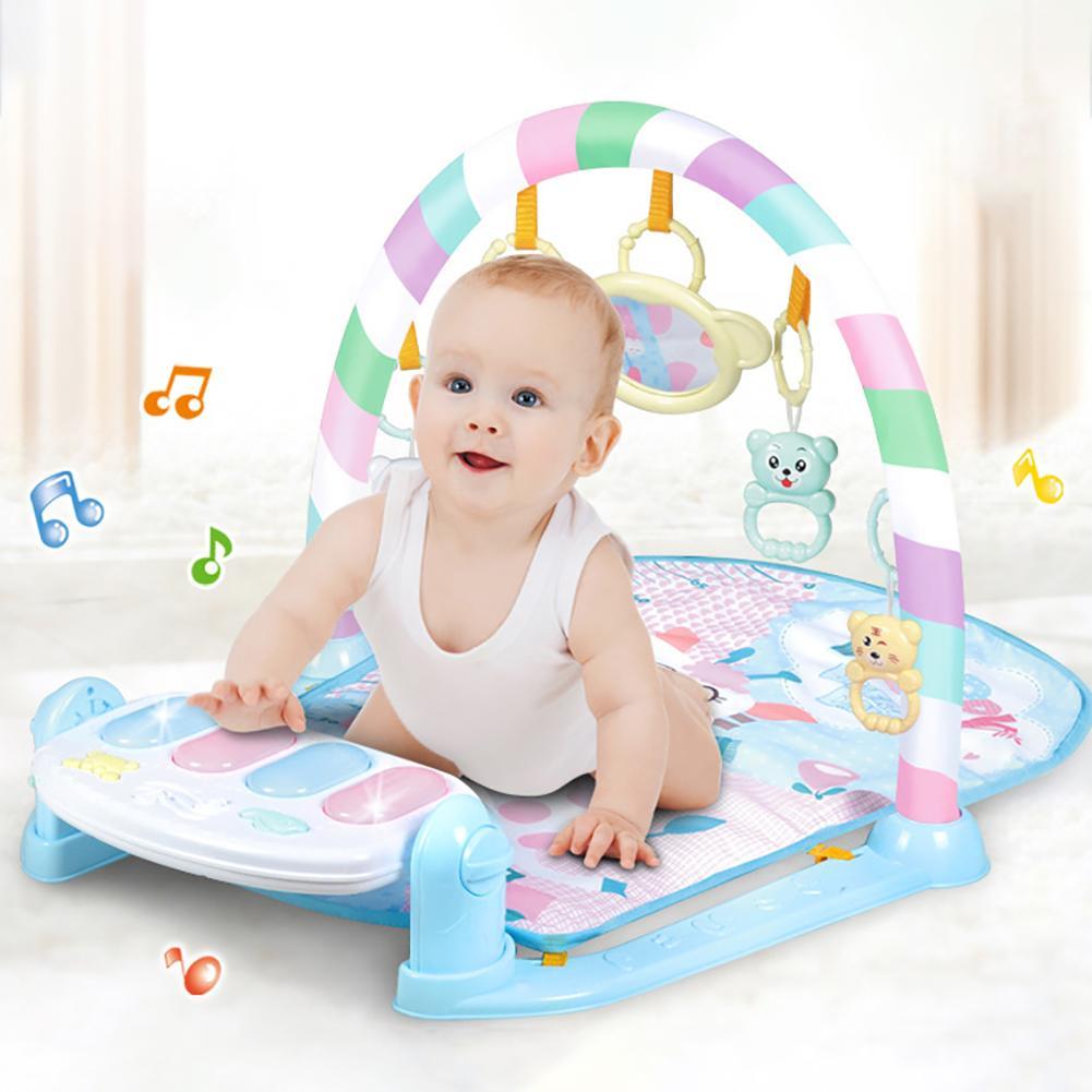 Newborn Baby Hanging Animal Piano Music Rattles Mat Carpet Toy Developmental Music Educational Toys For Kids Children Gifts