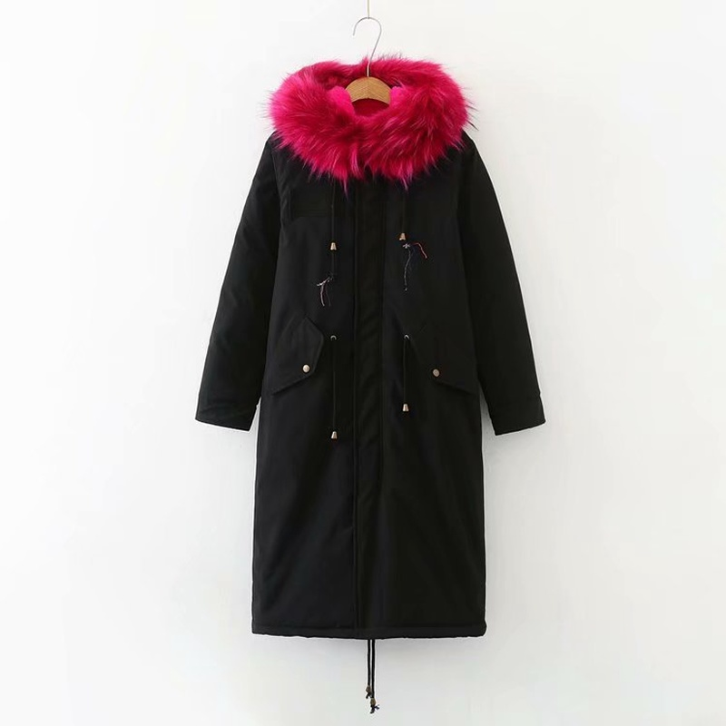 Зимняя женская куртка размера плюс, теплая, до колена, с капюшоном, с хлопковой подкладкой, куртки для женщин, Утолщенные, Длинные парки, верхняя одежда