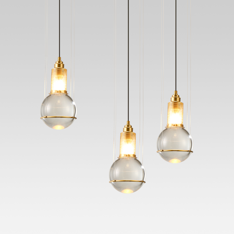 Modern Pendant Lights Black Glass Ball Pendant Lamp Long Line Hanging Lamp For Kitchen Living Room Nordic Globe Light Fixtures