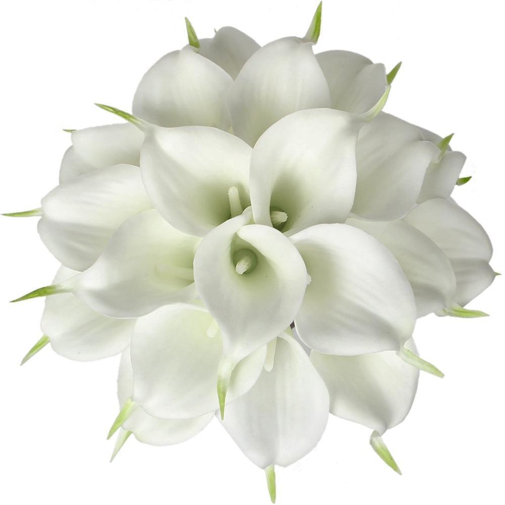 ขายส่ง 100 pcs Mini ขนาด PU Real Touch Calla Lily ตกแต่งดอกไม้ประดิษฐ์ดอกไม้งานแต่งงานดอกไม้จัดส่งฟรี-ใน ดอกไม้ประดิษฐ์และดอกไม้แห้ง จาก บ้านและสวน บน   1