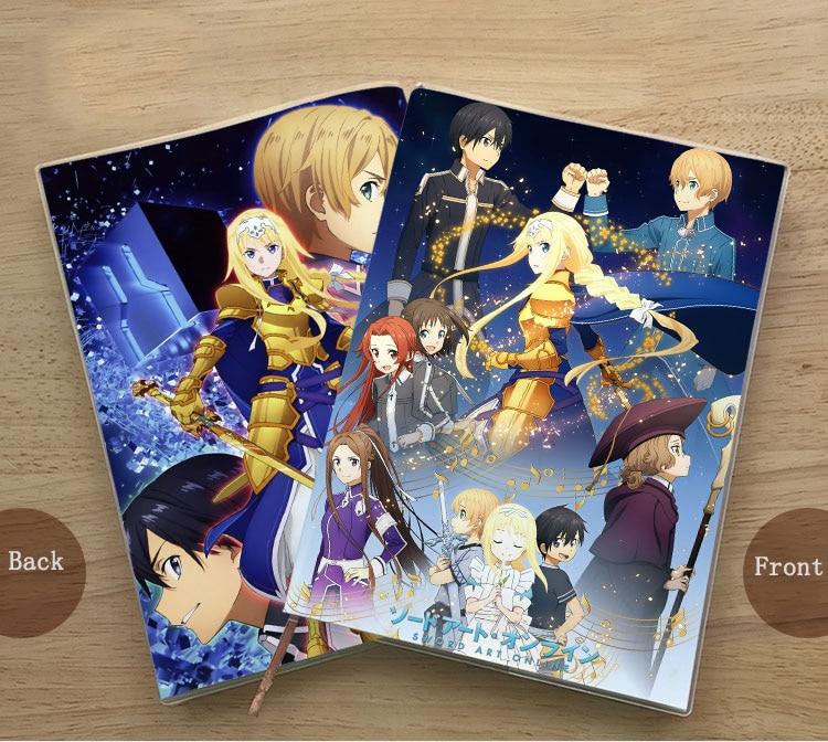 Anime Sword Art Online Yuuki Asuna Kirigaya Kazuto Notebook Notepad Notebook School Student Memorial Gift Diary Birthday Gift