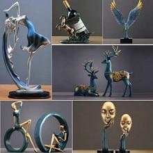 Figurines de famille de hibou, décor de danse ravissant, artisanat Animal créatif, accessoires de décoration pour la maison, cadeau de mariage pour les amoureux