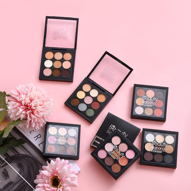 Beauty BigBang 9 Colors Eyeshadow Makeup Pallete Matte Shimmer Maquiagem Glitter Eye Shadow Cienie Do Powiek 3