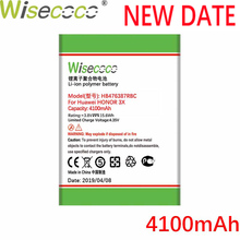 Wisecoco 4100mAh HB476387RBC Battery For Huawei honor 3X G750 B199 G750-T00 G750-C00 Phone Latest Production+Tracking Number