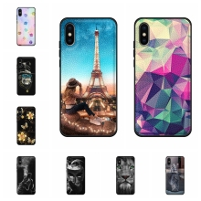 For Apple iPhone XS Max Case Soft TPU Leather A2101 A1921 A2104 Cover Dog Patterned Shell