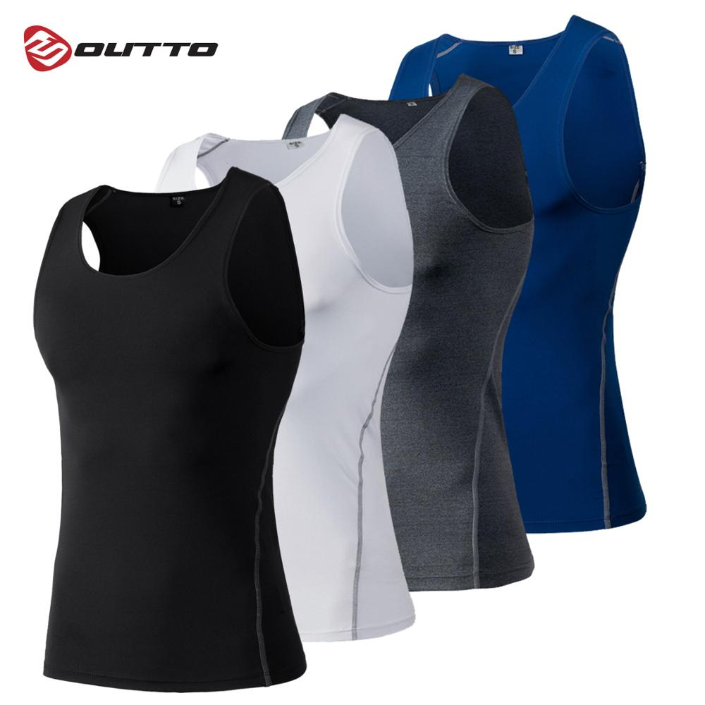 Outto Sport Vest Men Running Tank Top Shirt Training Vests Polyester Singlet Gym Bodybuilding Clothes #B1001