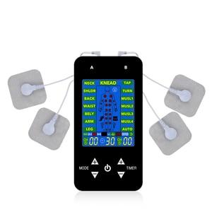 Image 2 - EMS Tens makine ünitesi elektrikli masaj darbe kas stimülatörü elektrot pedleri dijital terapi ağrı kesici makinesi 15 modları onlarca
