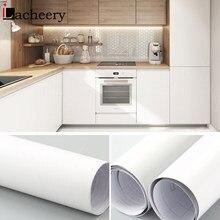 Vinile bianco opaco impermeabile autoadesivo carta da parati buccia e bastone adesivo da parete per soggiorno porta armadio da cucina decorazioni per la casa