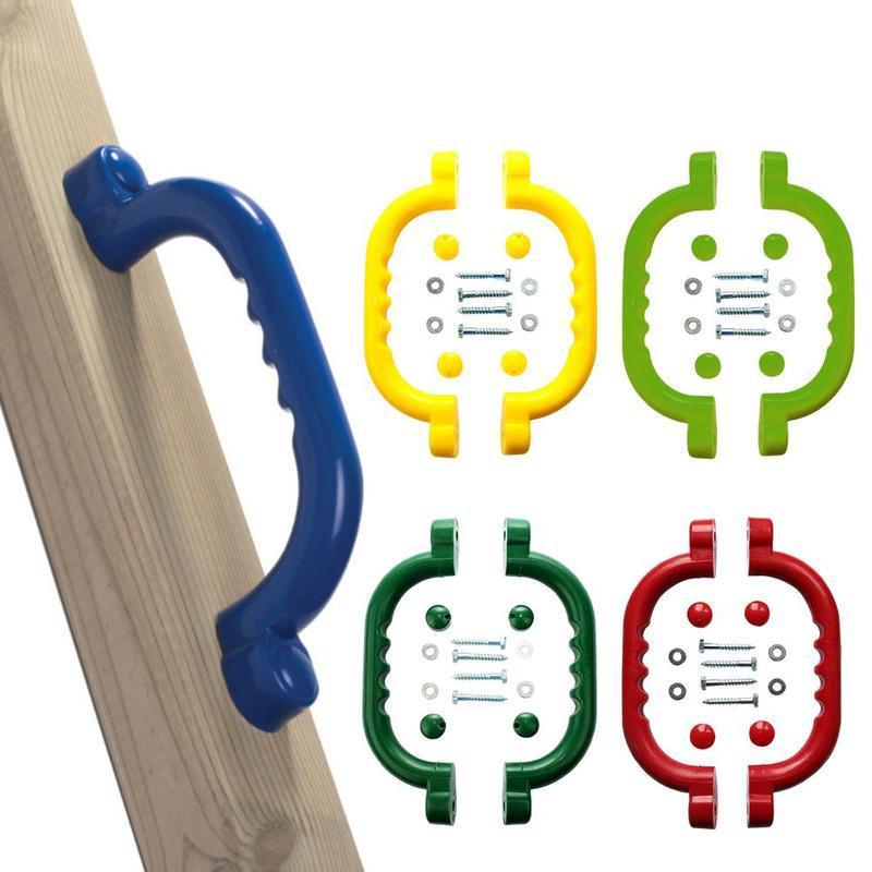 Kids Children Playground Safety Nonslip Grab Handles Mounting Hardware Kits Climbing Frame Swing Toy Accessories
