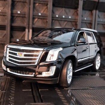 Welly 1:24 Cadillac Escalade, coche en miniatura de aleación, vehículos de juguete para hacer Diecast y coleccionar, regalos, juguete de transporte de tipo no mando a distancia