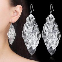 NEHZY – boucles d'oreilles en forme de feuille d'érable pour femme, bijoux en argent sterling 925 de haute qualité, style rétro ajouré, longues pampilles suspendues