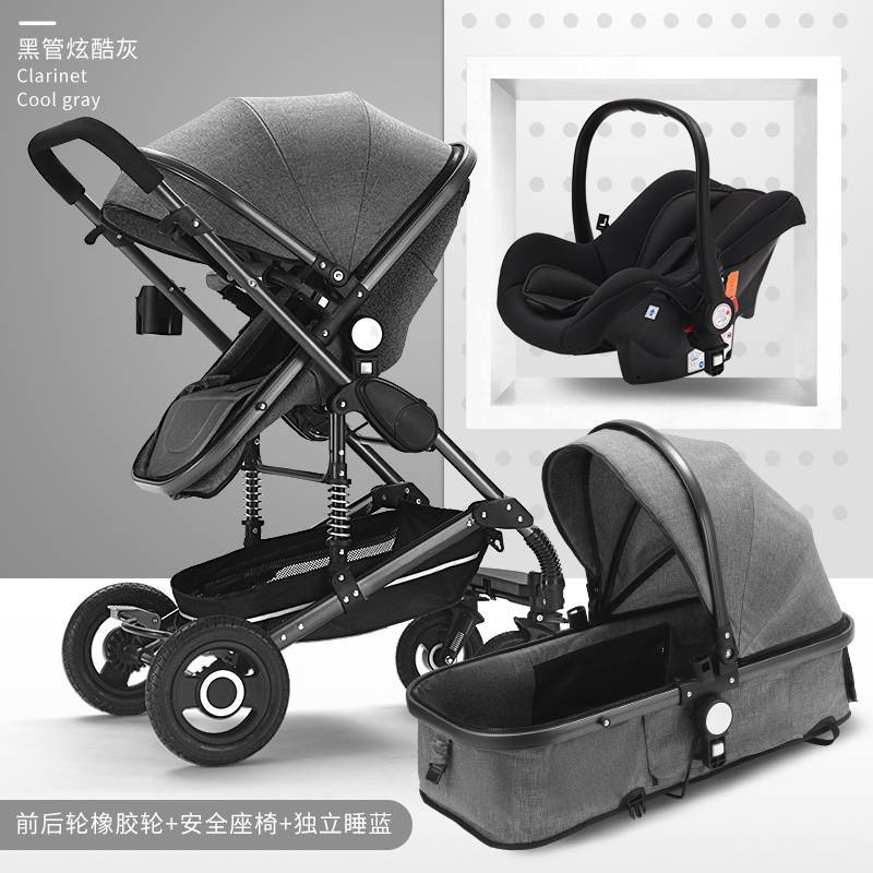 Baby Stroller 3 In 1 Pram with Car Seat Travel System Baby Stroller with Car Seat Newborn Baby Comfort kinderwagen 0~36 months image