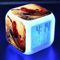 С героями комиксов Марвел, Человека-паука, детский будильник милые красочные светодиодный световой часы-будильник цифровые часы электронн...