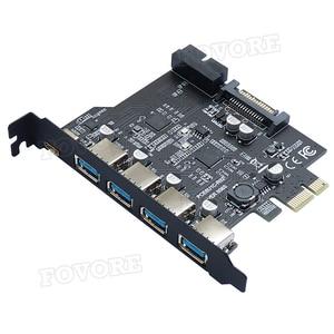 Добавить на карту USB 3,0 PCI E Тип C карта расширения PCI Express PCI E к USB 3,0 контроллер 5 портов + 1 порт USB 3,1 PCI E адаптер карты Платы расширения      АлиЭкспресс