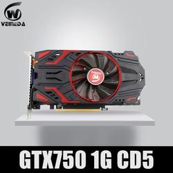 بطاقة فينيدا 100% الأصلية GPU GTX750 1GB GDDR5 بطاقة الرسومات instantkiller GTX650Ti, HD6850, R7 350 لألعاب nVIDIA Geforce