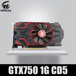 Veineda Kartu Video 100% Asli GPU GTX750 1GB GDDR5 Kartu Grafis Instantkill GTX650Ti, HD6850, r7 350 untuk NVIDIA GeForce Permainan