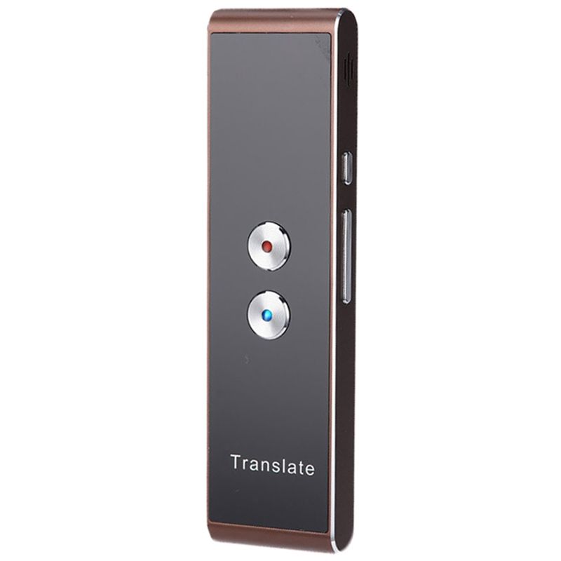 Portable T8 Smart 40 Language Translator Real-Time Speech Voice Translation For Business Travel(Brown)
