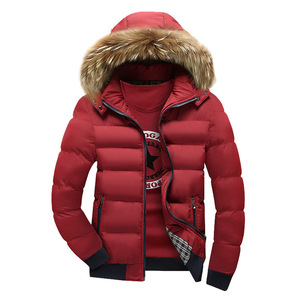 Image 4 - Warm Down Jacket Mens Winter Parkas Fur Hooded Coats Autumn Thick Zipper Parka Outerwear Casual Men Clothes Solid Hoody Jackets